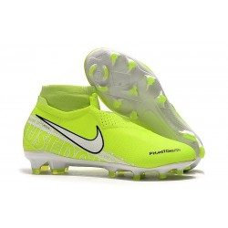 Nike Zapatos Phantom Vision Elite Dynamic Fit FG - Voltio Blanco