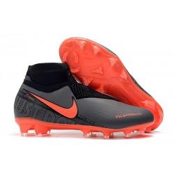 Nike Phantom Vision Elite DF FG Tacos de Futbol - Rojo Negro