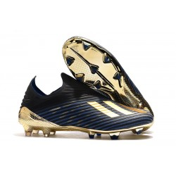 Bota de Fútbol adidas X 19+ FG - Negro Oro