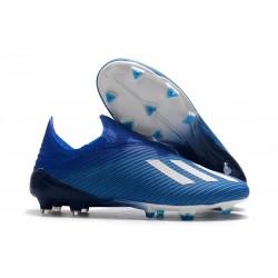 Bota de Fútbol adidas X 19+ FG - Azul Blanco