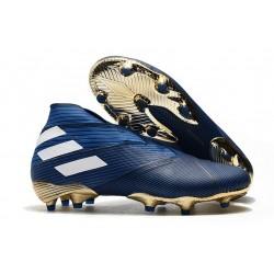 adidas Botas de fútbol Nemeziz 19+ FG Azul Blanco