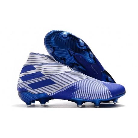 adidas Botas de fútbol Nemeziz 19+ FG Blanco Azul