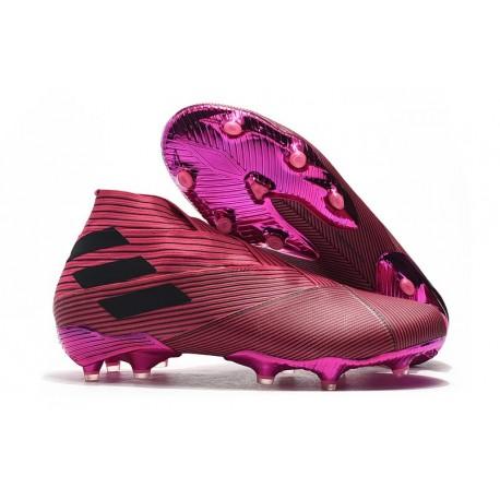 adidas Botas de fútbol Nemeziz 19+ FG Rosa Negro