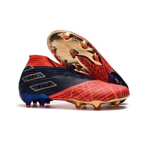adidas Botas de fútbol Nemeziz 19+ FG Spider-Man Rojo Negro