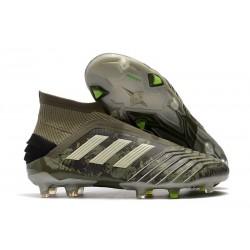 adidas Zapatillas de fútbol Predator 19+ FG - Verde Arena Amarillo