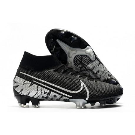 Nike Mercurial Superfly 7 Elite FG Botas de fútbol Negro Gris