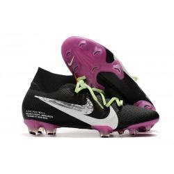 Zapatillas de Fútbol Nike Mercurial Superfly VII Elite FG Negro Violeta Blanco
