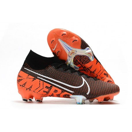 Nike Mercurial Superfly VII Elite FG Negro Blanco Hyper Crimson