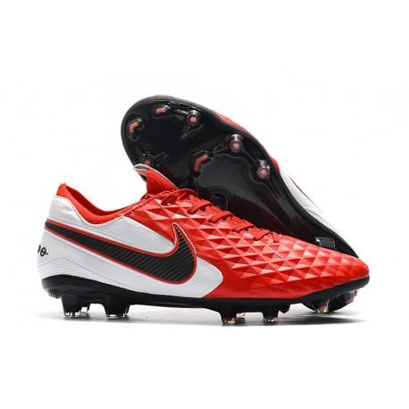 Nike Tiempo Legend 8 Elite FG Botas de Fútbol Rojo Blanco Negro