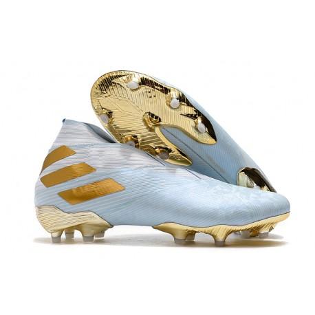 Zapatillas de Futbol adiZapatillas de Futbol adidas Nemeziz 19+ FG Agua/Dorado metalizado /Blancodas Nemeziz 19+ FG