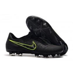 Zapatillas de Fútbol Nike Phantom VNM Elite FG Negro Amarillo Fluorescente