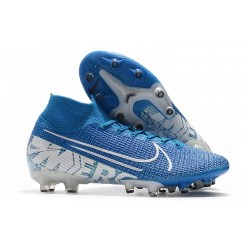 Nike Mercurial Superfly 7 Elite AG-PRO Azul Blanco
