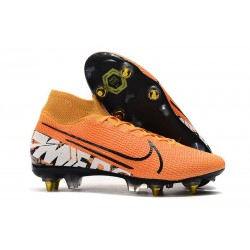 Zapatillas Nike Mercurial Superfly 7 Elite SG-PRO Naranja Blanco