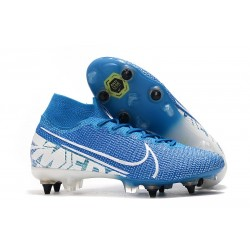 Zapatillas Nike Mercurial Superfly 7 Elite SG-PRO Azul Blanco