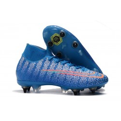 Zapatillas Nike Mercurial Superfly 7 Elite SG-PRO Azul Rojo