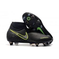 Nike Phantom VSN Elite DF SG-Pro Anti Clog Negro Amarillo Fluorescente