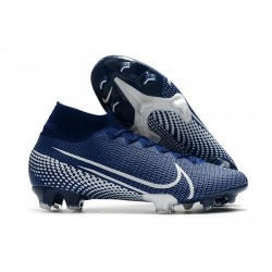 Zapatillas de Fútbol Nike Mercurial Superfly VII Elite FG Azul Blanco