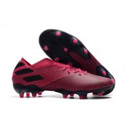 Zapatos de Fútbol adidas Nemeziz 19.1 FG - Rosa Negro