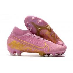 Zapatillas de Fútbol Nike Mercurial Superfly VII Elite FG Rosa Oro