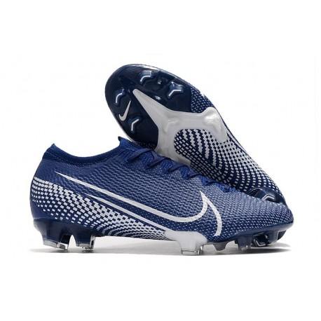 Nike Mercurial Vapor 13 Elite FG Zapatilla - Azul Blanco
