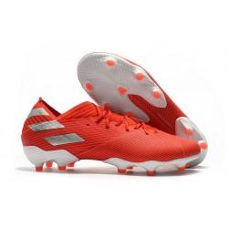 Zapatos de Fútbol adidas Nemeziz 19.1 FG - Rojo Plata