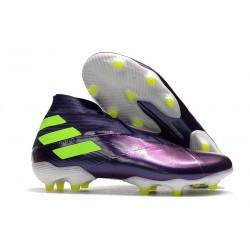 Zapatillas de Futbol adidas Nemeziz 19+ FG Violeta Verde