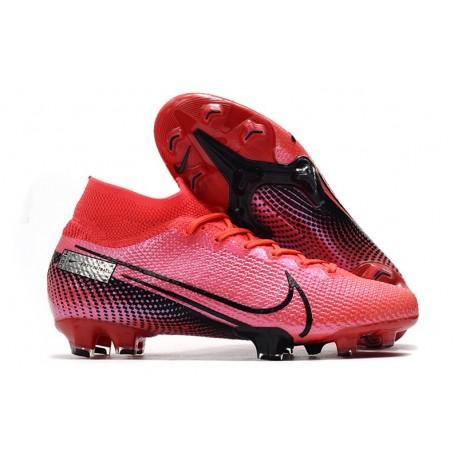 Zapatillas Nike Mercurial Superfly VII Elite FG Láser Crimson Negro