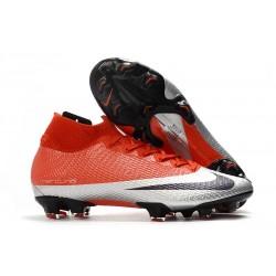 Zapatillas de Fútbol Nike Mercurial Superfly VII Elite FG Rojo Plata