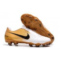 Nike Zapatos de Futbol Phantom VNM Elite FG - Blanco Oro Negro