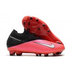 Tacos Futbol Nike Phantom VSN 2 Elite DF FG -Laser Crimson Plata Negro