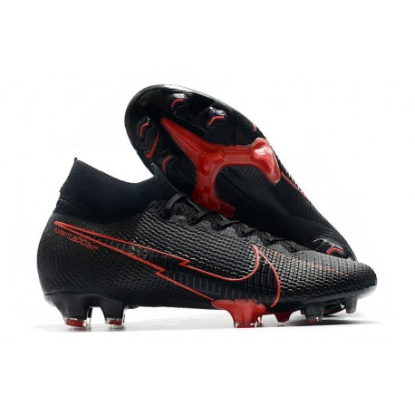 Nike Bota Mercurial Superfly 7 Elite DF FG Negro Rosso
