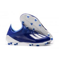 Botas de Fútbol adidas X 19.1 FG - Azul Blanco