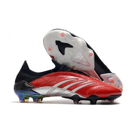 Zapatillas de Fútbol adidas Predator Archive FG - Rojo Negro Plata