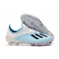 Botas de Fútbol adidas X 19.1 FG - Azul Blanco Negro