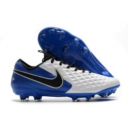 Zapatillas Nike Tiempo Legend VIII Elite FG - Blanco Azul Negro