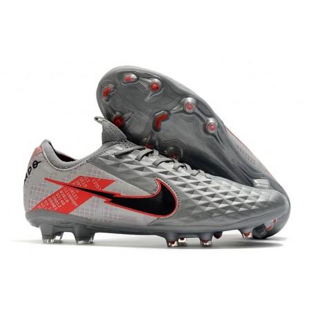 Zapatillas Nike Tiempo Legend VIII Elite FG - Gris Negro Rojo