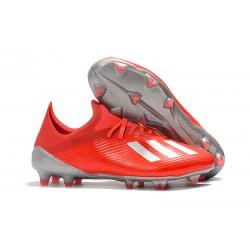 Botas de Fútbol adidas X 19.1 FG - Rojo Plata