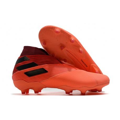 Zapatillas Futbol adidas Nemeziz 19+ FG Signal Coral Negro Rojo Gloria