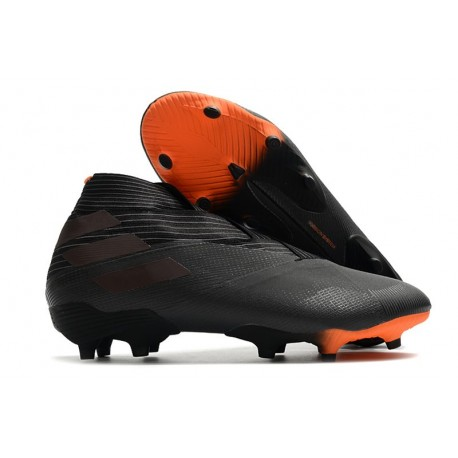 Zapatillas de Futbol adidas Nemeziz 19+ FG Negro Naranja Señal