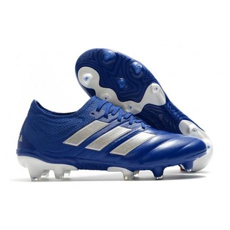 Botas de fútbol adidas Copa 20.1 FG Azul Royal Plateado metalizado