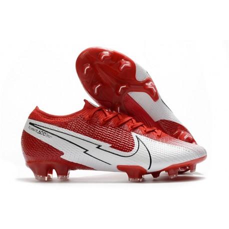 Zapatillas Nike Mercurial Vapor 13 Elite FG Rojo Blanco