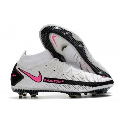Zapatillas Nike Phantom GT Elite Dynamic Fit FG Blanco Rosa Negro