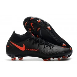 Zapatillas Nike Phantom GT Elite Dynamic Fit FG Negro Rojo Chile Gris