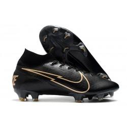 Nike Mercurial Superfly VII Elite FG Negro Oro