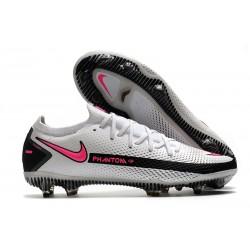 Bota de Futbol Nike Phantom GT Elite FG - Blanco Rosa Negro