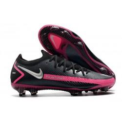 Bota de Futbol Nike Phantom GT Elite FG -Negro Plateado Explosión Rosa