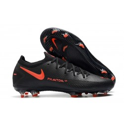Bota de Futbol Nike Phantom GT Elite FG - Negro Rojo Chile Gris