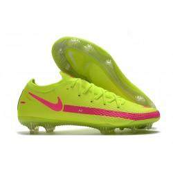 Bota de Futbol Nike Phantom GT Elite FG - Amarillo Rosa