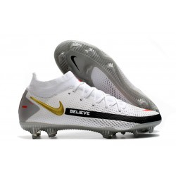 Zapatillas Nike Phantom GT Elite Dynamic Fit FG Blanco Negro Oro Rojo
