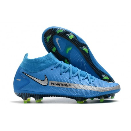 Nike Botas Nuevo Phantom GT Elite DF FG - Azul Plata
